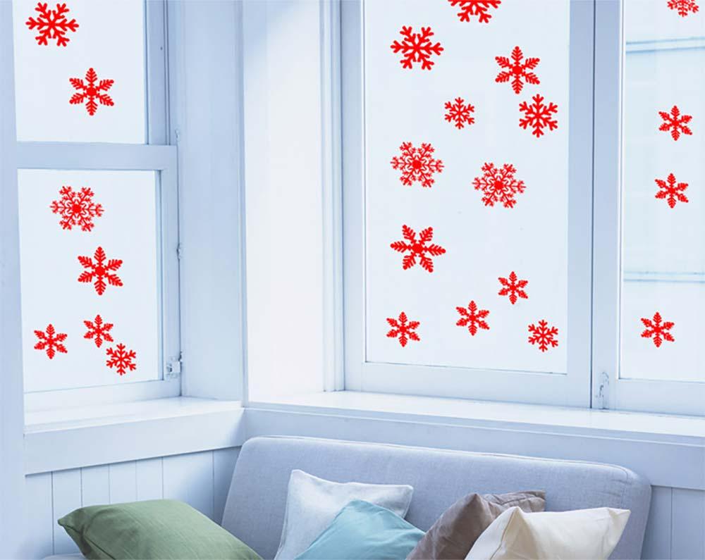 Snowflake Decals Christmas Decoration