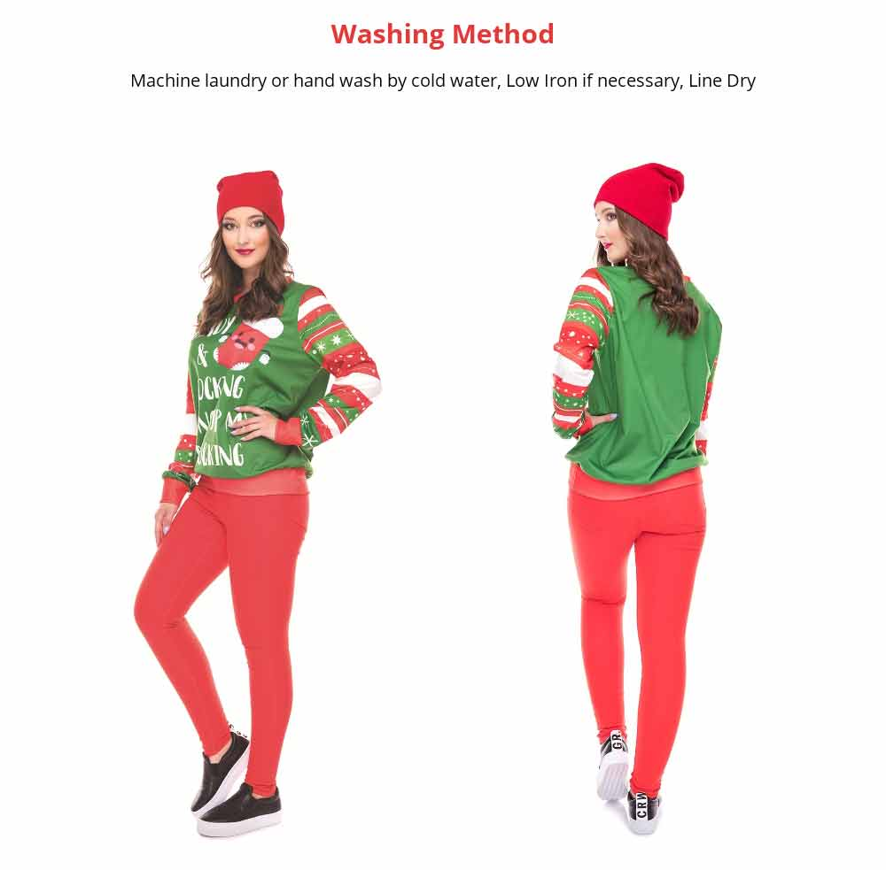 Non-fading Warm Christmas Sweater Tops