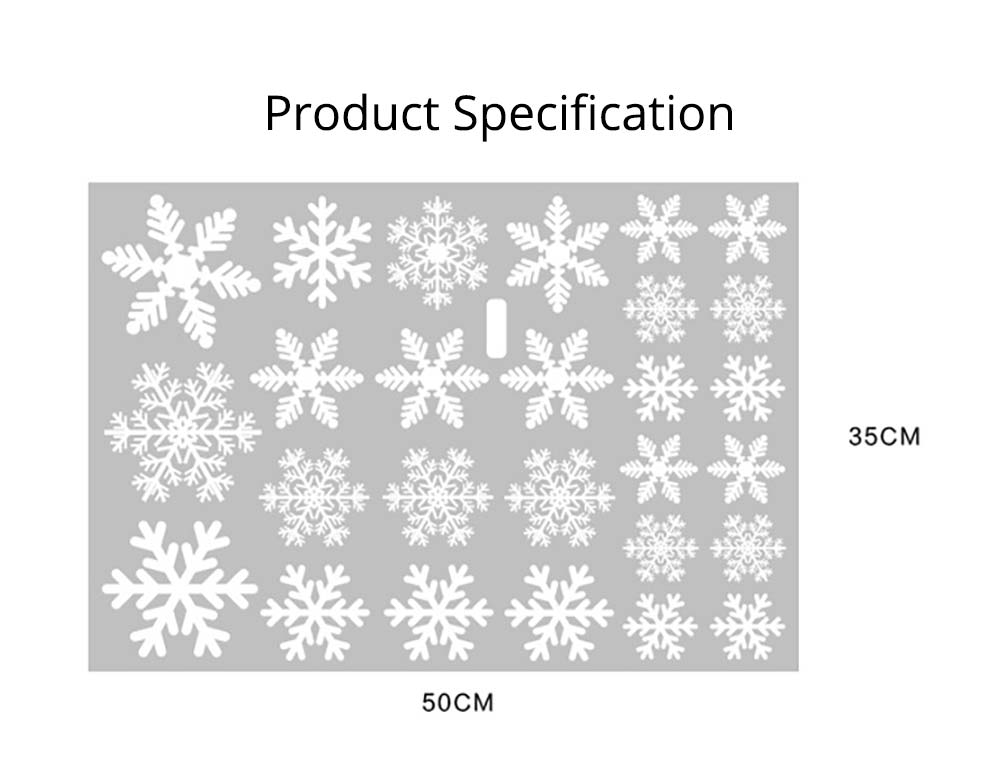Snowflake Decals Christmas Decoration for wall