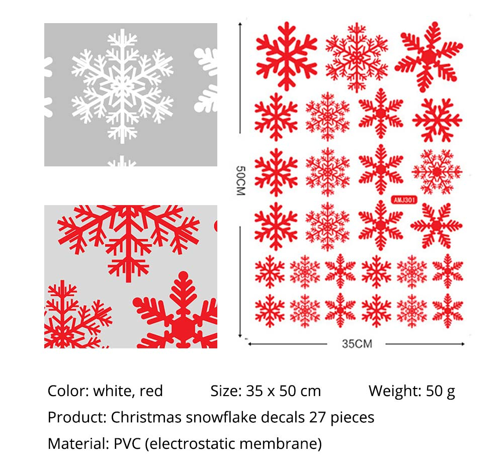 Snowflake Decals Christmas Decoration for wall, car