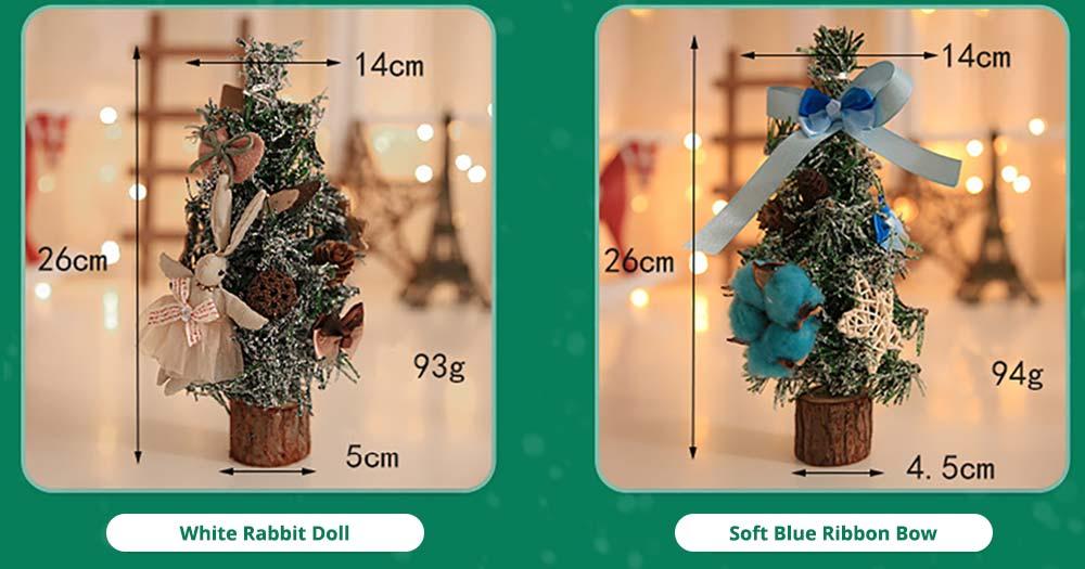 Mini Pine Tree Christmas Ornaments Tree for Hotel Home