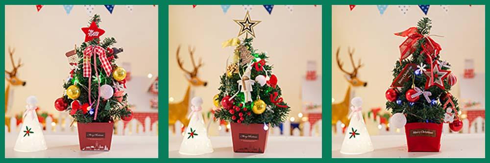 DIY Mini Christmas Tree with Red Carton Base