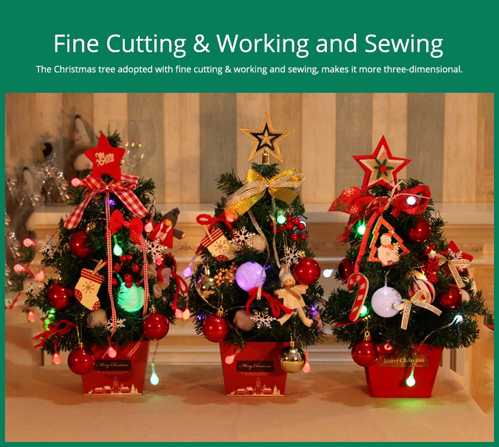 DIY Mini Christmas Tree with Fine Cutting & Working and Sewing
