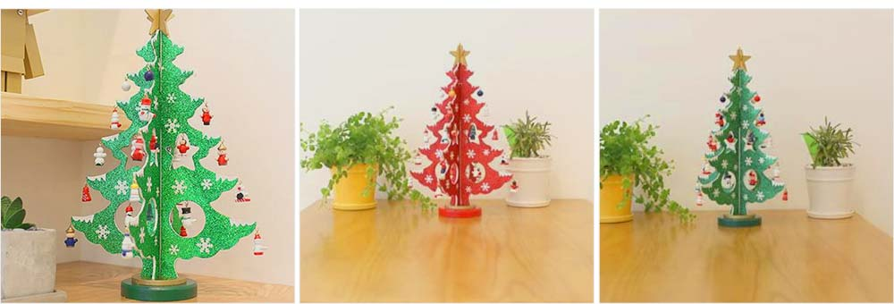 Wood Christmas Tree for Christmas Party, Home, Restaurant, Shop, Office