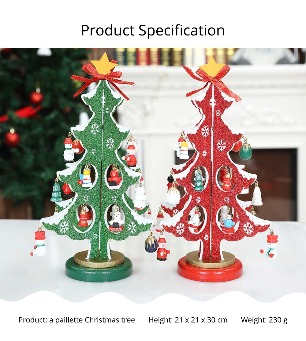 Wood Christmas Tree for Christmas Party, Home, Restaurant, Shop, Office, School Decoration