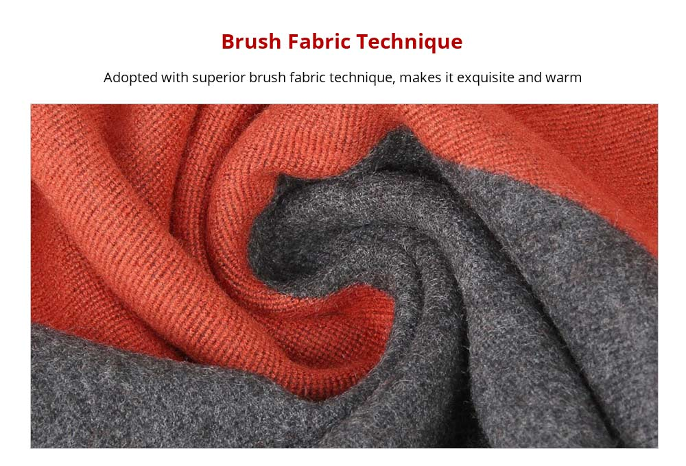 Brush Fabric Technique Business Man Strip Scraf