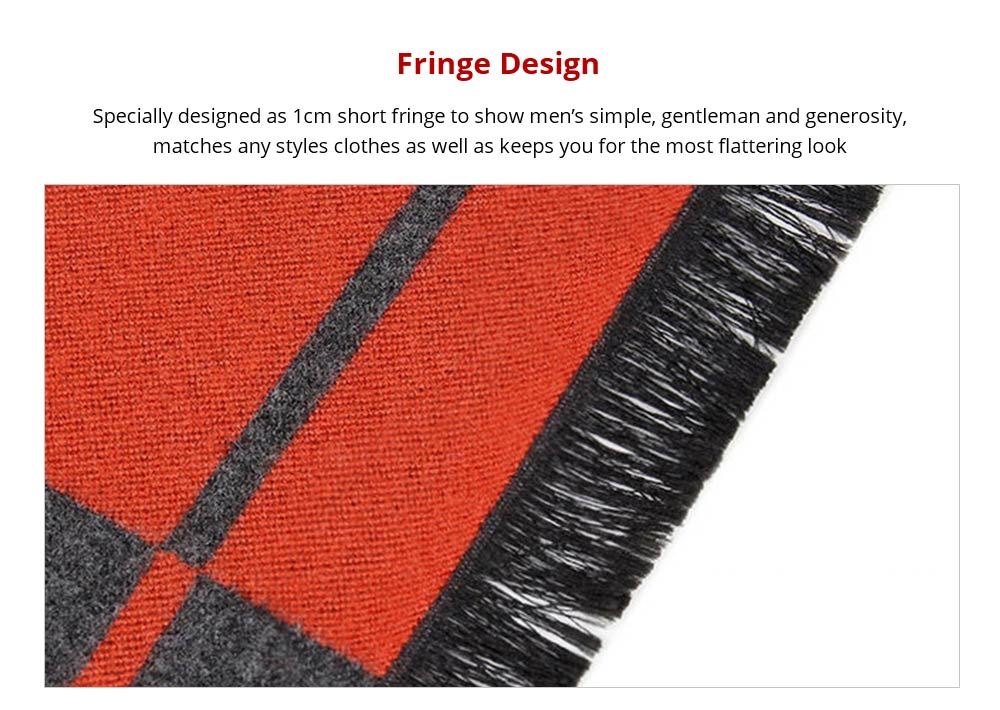Fringe Design Business Man Strip Scraf