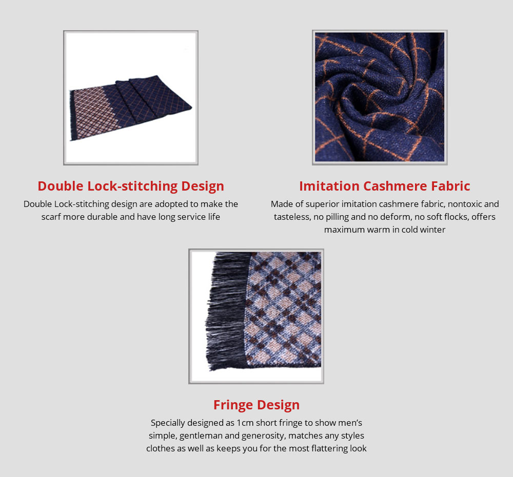 British Style Plaid Scarf for Men, Business Man, Gentleman, Unique Imitation Cashmere Plaid scarf, 2019 Brand New Men's Scarf 8