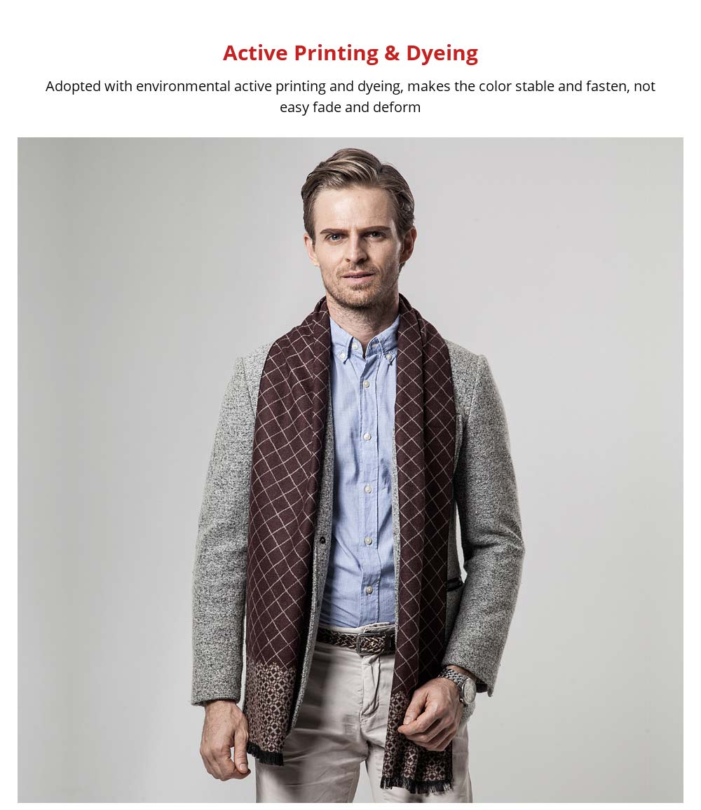 British Style Plaid Scarf for Men, Business Man, Gentleman, Unique Imitation Cashmere Plaid scarf, 2019 Brand New Men's Scarf 9
