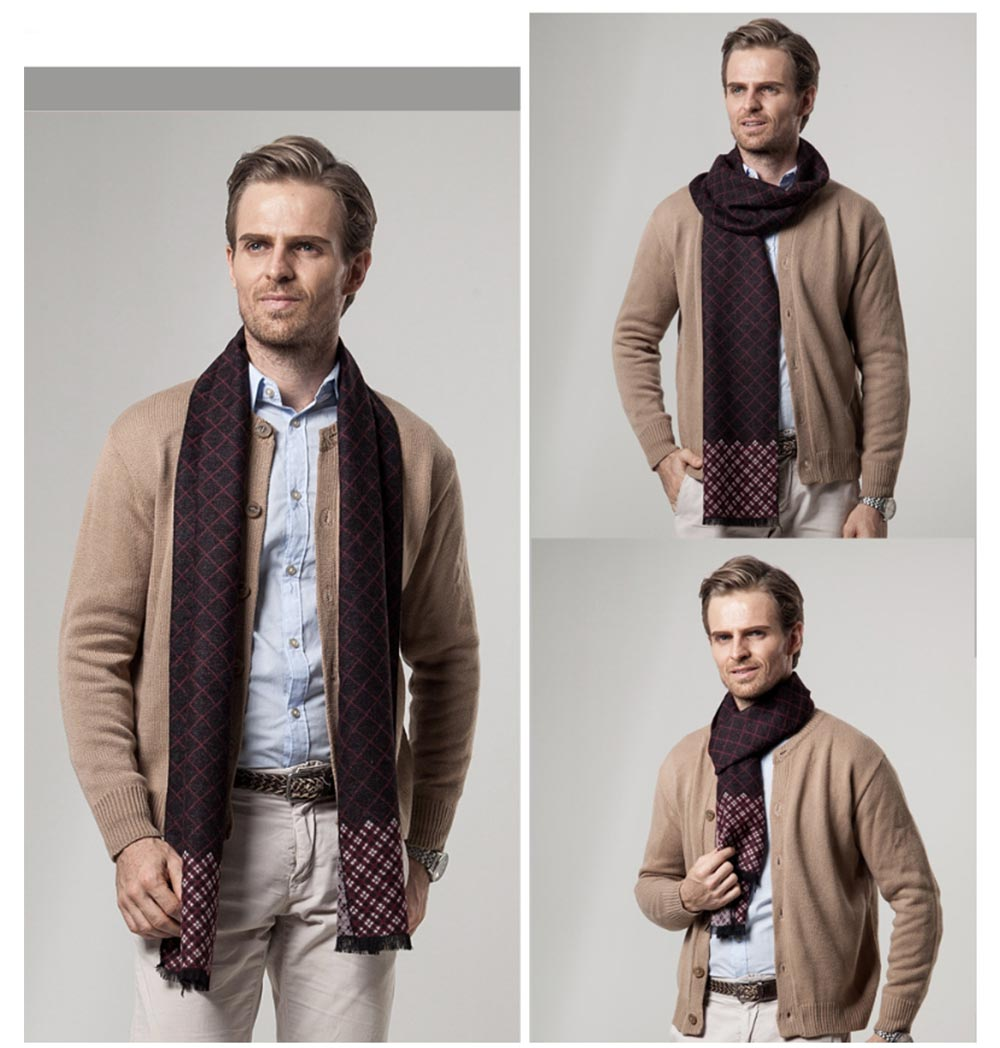 British Style Plaid Scarf for Men, Business Man, Gentleman, Unique Imitation Cashmere Plaid scarf, 2019 Brand New Men's Scarf 10