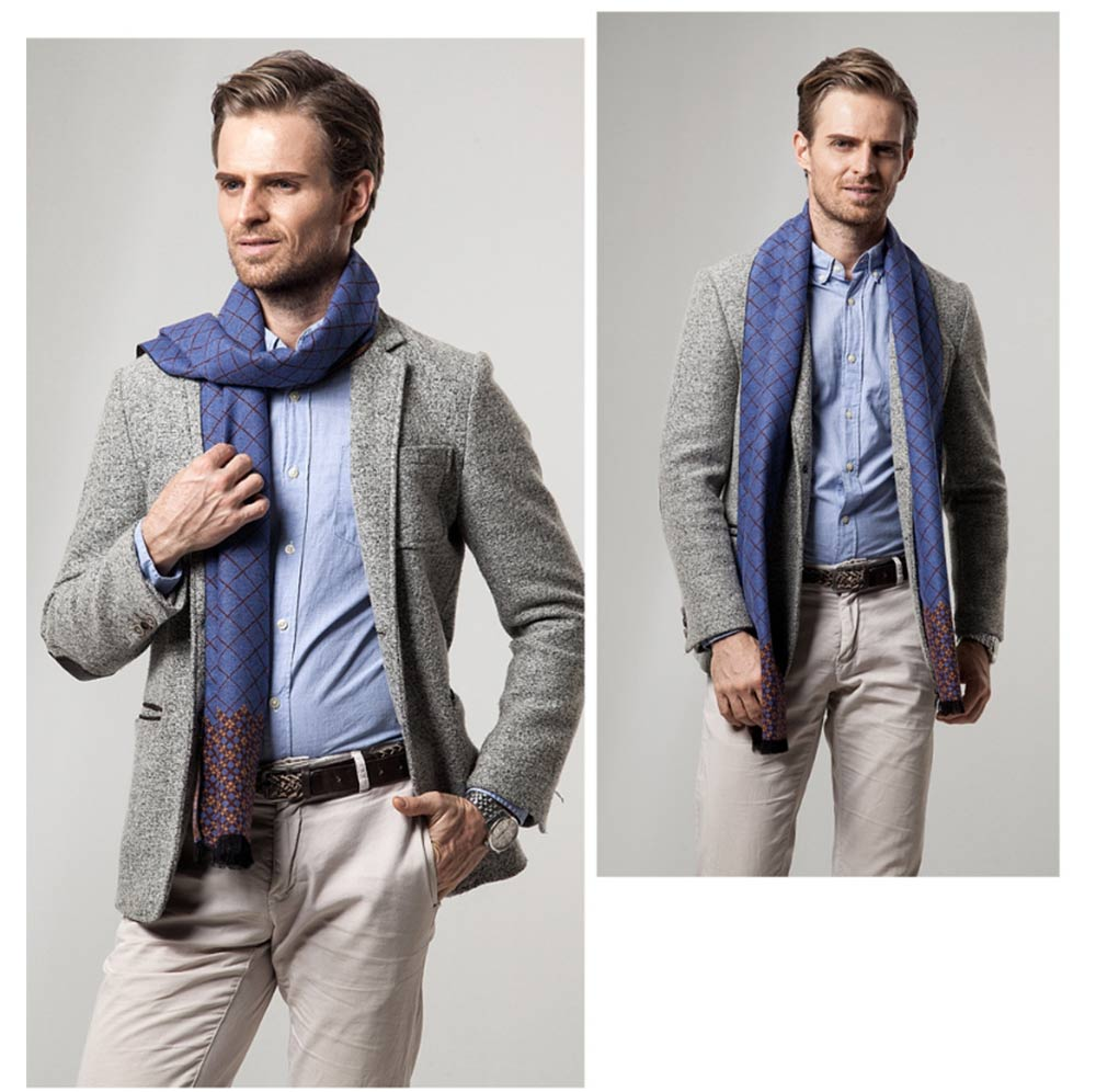 British Style Plaid Scarf for Men, Business Man, Gentleman, Unique Imitation Cashmere Plaid scarf, 2019 Brand New Men's Scarf 14