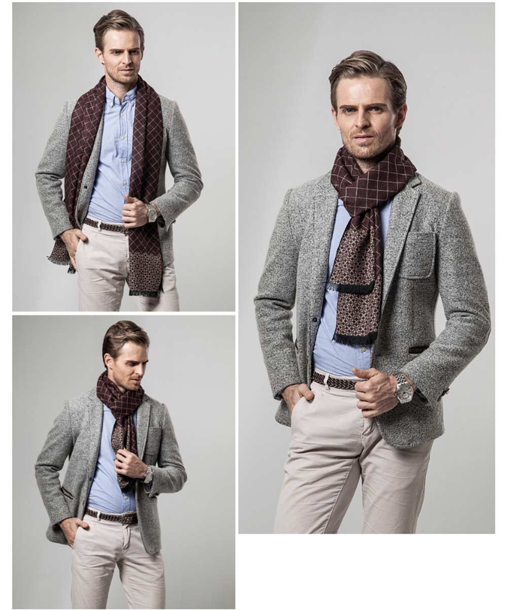 British Style Plaid Scarf for Men, Business Man, Gentleman, Unique Imitation Cashmere Plaid scarf, 2019 Brand New Men's Scarf 15