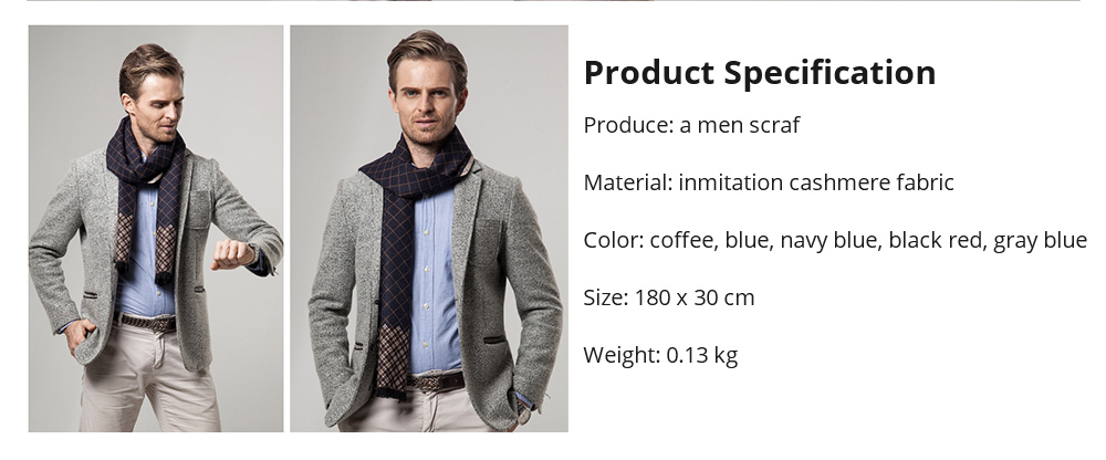 British Style Plaid Scarf for Men, Business Man, Gentleman, Unique Imitation Cashmere Plaid scarf, 2019 Brand New Men's Scarf 17
