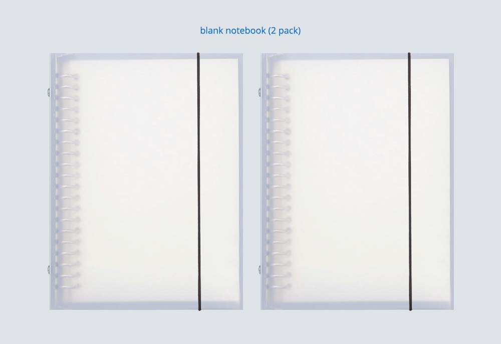2 pack Detachable Pages Notebook