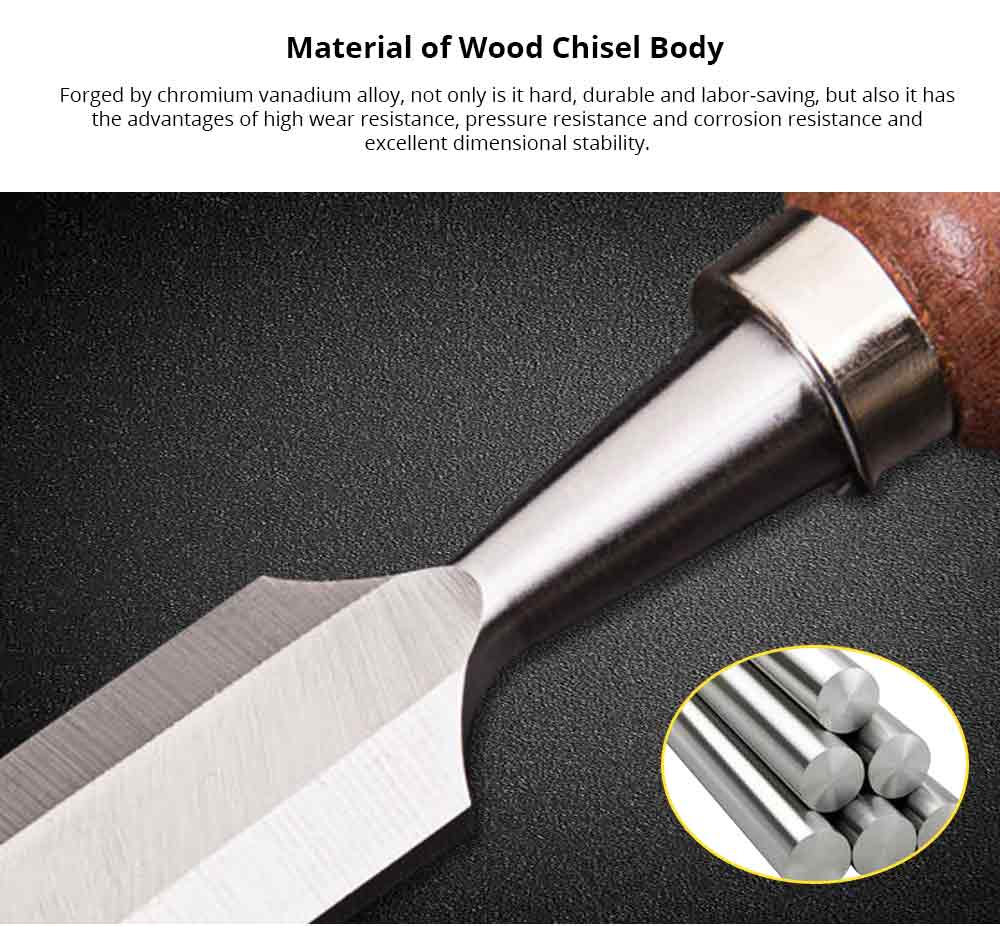 Woodworking Tools and Accessories Mahogany Hand Tools, Including Wood Chisel, Flat Chisel, Woodcut Knife, Carved Chisel, Half Round Chisel 7