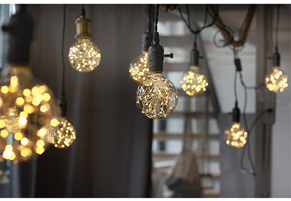 Copper Wire Lamp LED Decorative Lighting, Glass Lamp, Vintage Lamp, Copper Wire Led Lights 9