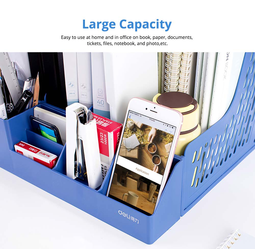 Universal File Organizer for Documents, Tickets, Home & School File, Practical Desktop Documents Storage Holder Office Supplies 9
