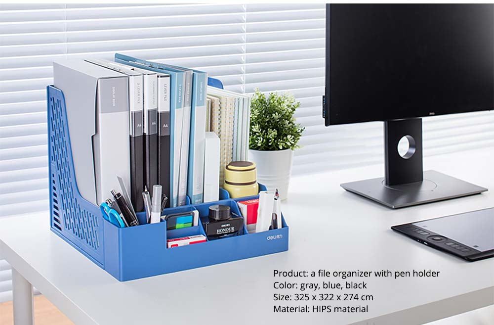 Universal File Organizer for Documents, Tickets, Home & School File, Practical Desktop Documents Storage Holder Office Supplies 19