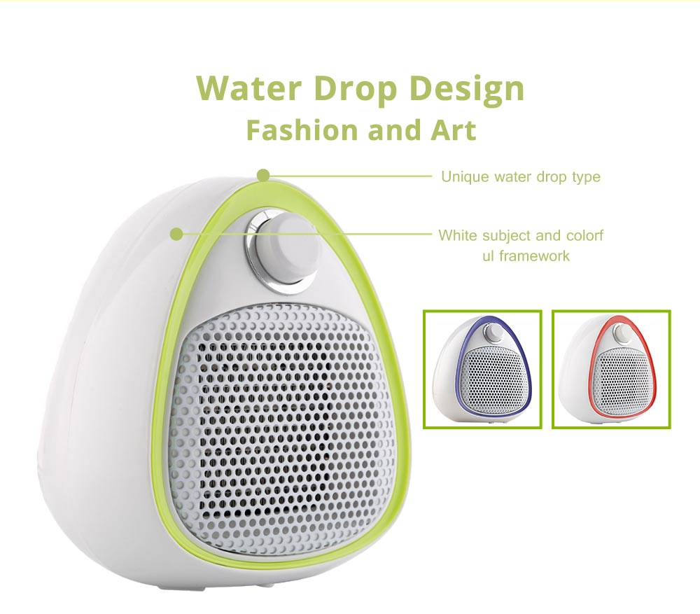 Mini Handy Heater, Streamlined Lovely Quiet Ceramics Three Gear Hot or Cold Air Winter Fan for Home Office Warmer 7