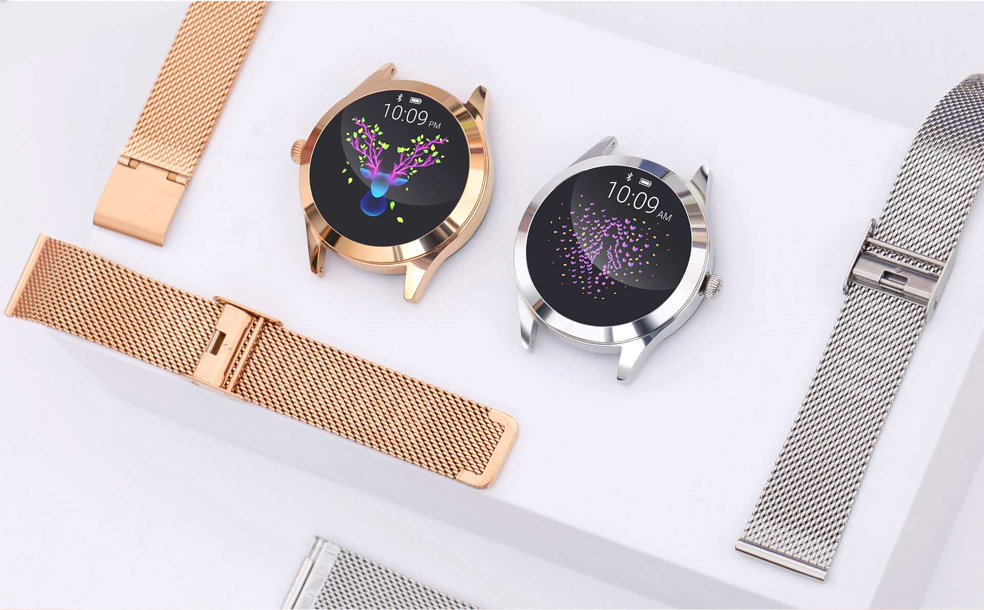 Women's Smartwatches - Steel Rose Gold & Steel Silver