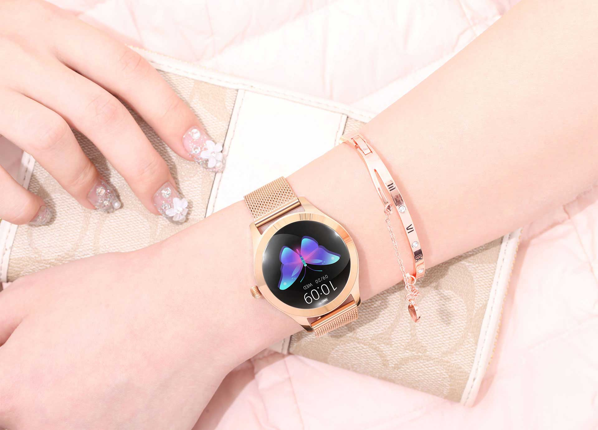 Women's Smartwatches - Steel Rose Gold