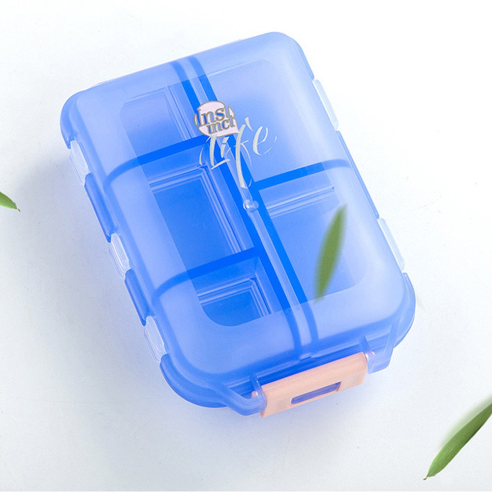 Portable Weekly Pill Case, Double-Decker Pill Box For Daily Or Travel Use 6