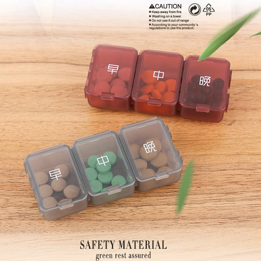Weekly Pill Box - Portable Medicine Organizer Box with 6 Compartments, Ideal for Holding Pills, Vitamins 7