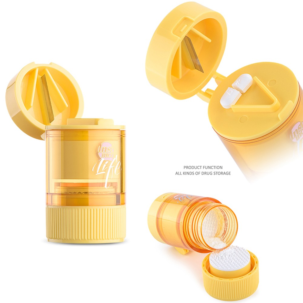 Pill Crusher Splitter - 3 in 1 Pill Cutter For Travel Or Daily Use 8