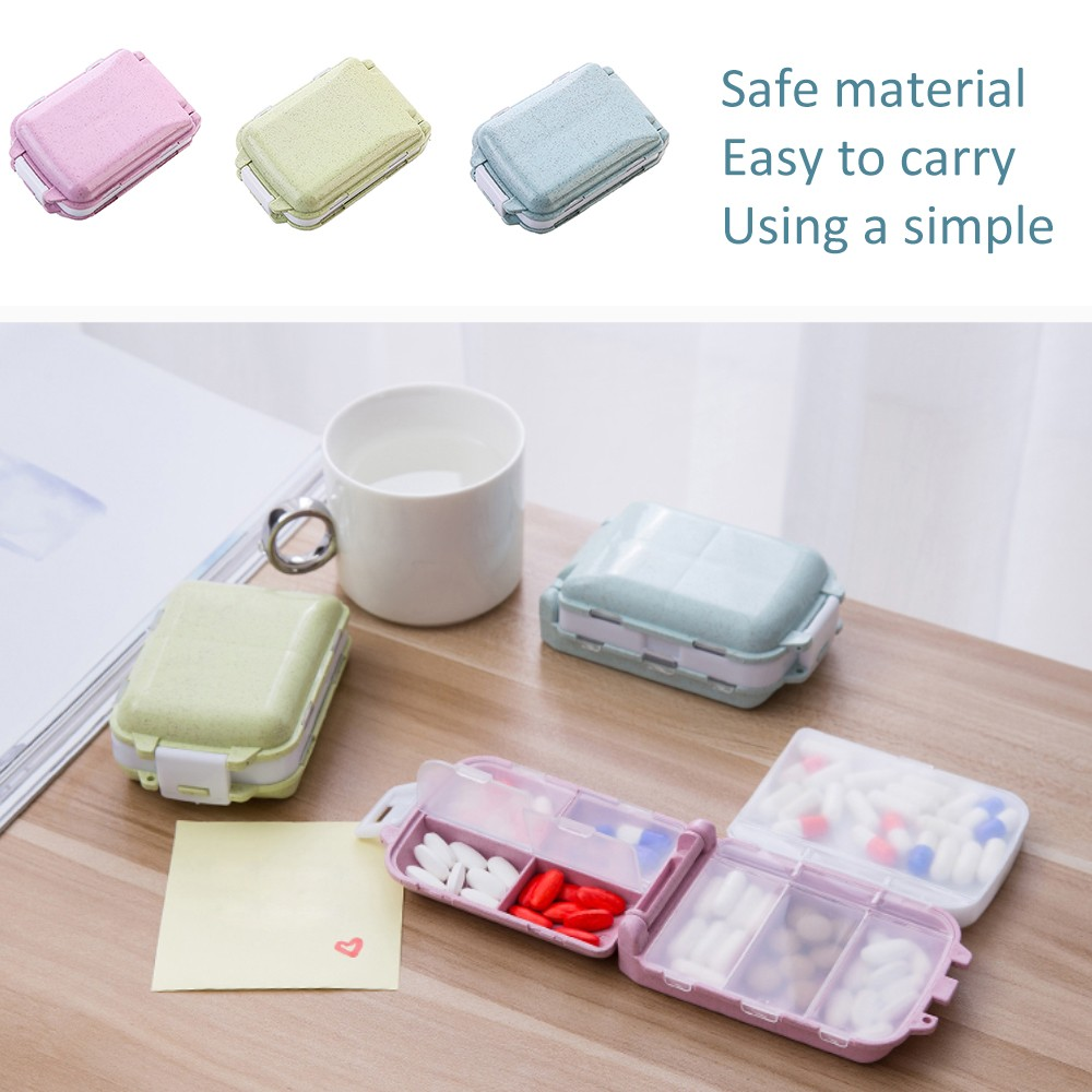 Portable Traveling Pill Case, Fashionable Pill Box with 8 Compartments 4