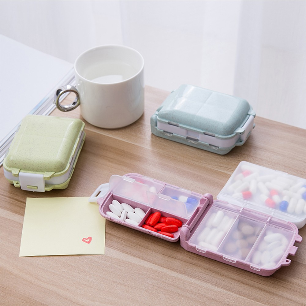 Fashionable pill box with 8 Compartments