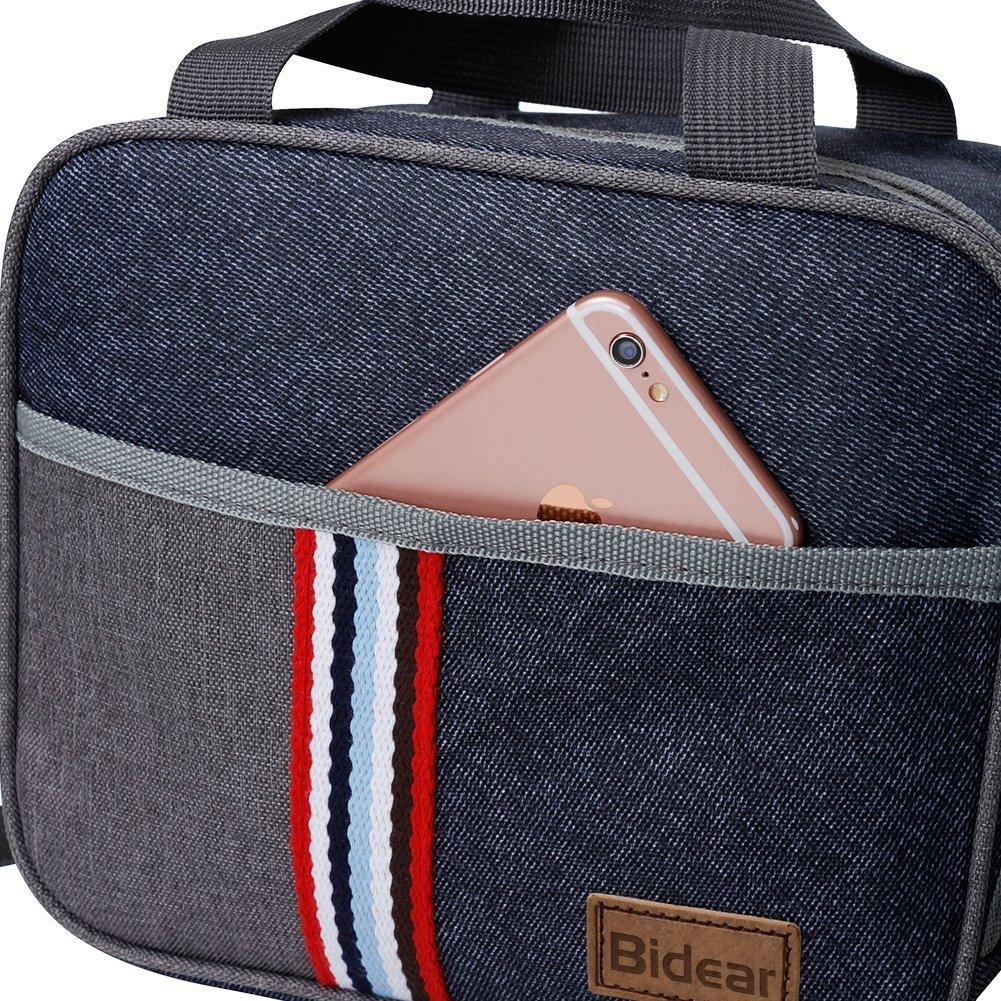 Reusable Insulated Lunch bag, Denim Blue Crossbody Lunch Bag for Women Kids Boy Girl 11