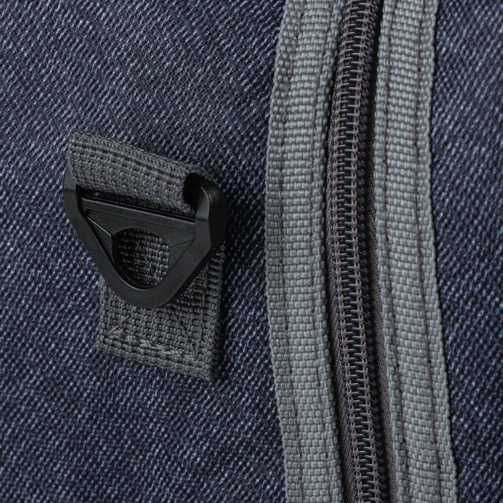 Reusable Insulated Lunch bag, Denim Blue Crossbody Lunch Bag for Women Kids Boy Girl 13