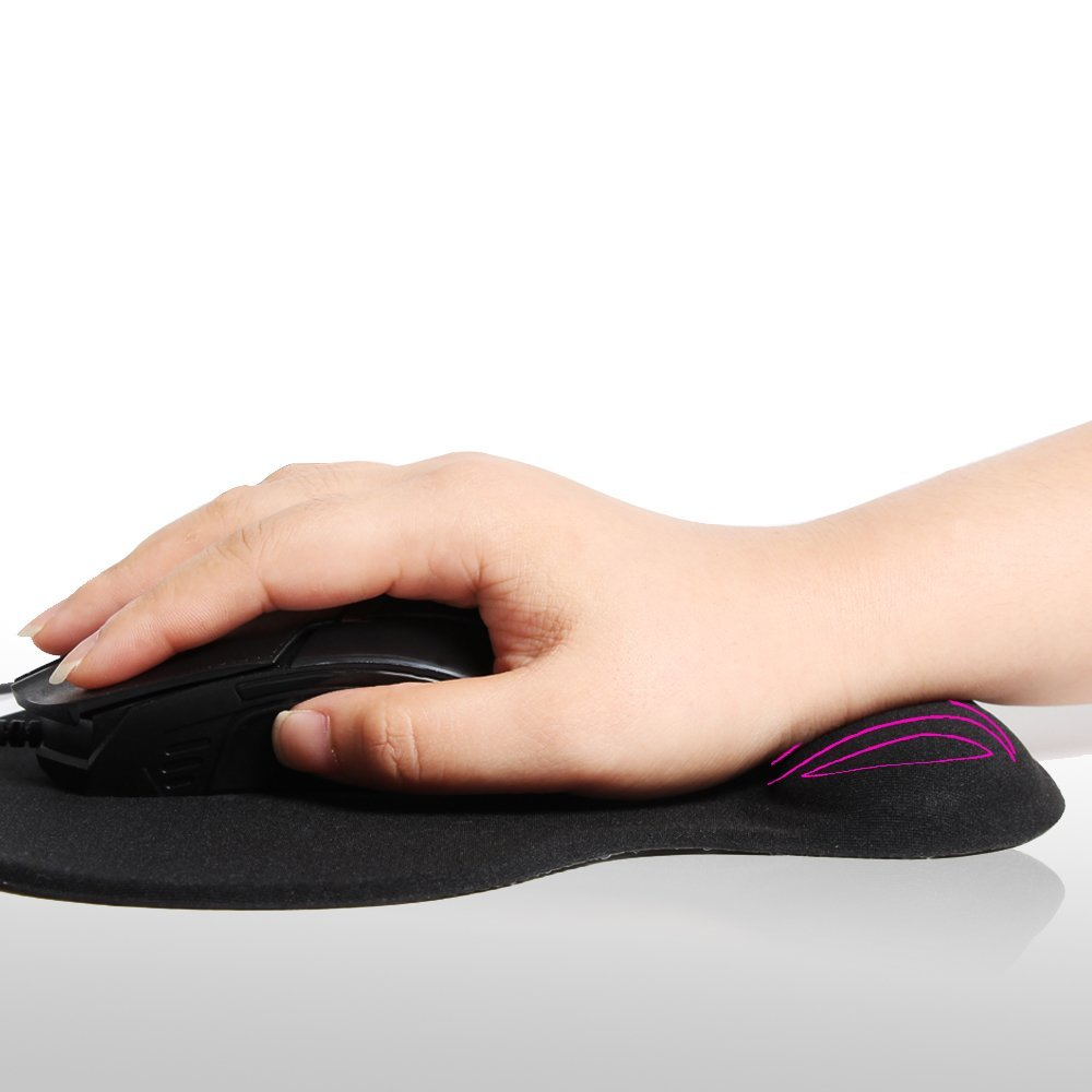 Mouse Pad with Gel Wrist Rest Support