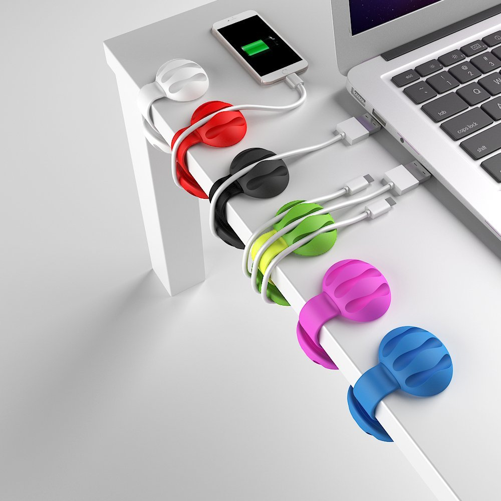 Desktop Cable Organizer for Power Cords and USB Cables