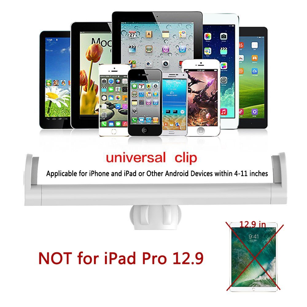 Universal Tablet Stand with 360° Rotation Long Arms for Bed or Office, Fits all tablets and smartphones 8