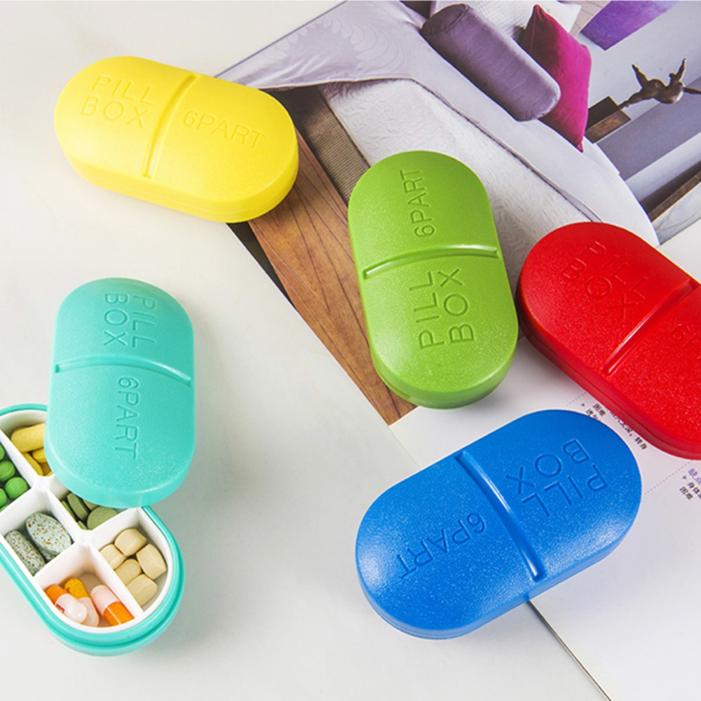 Weekly Pill box with 6 Compartments
