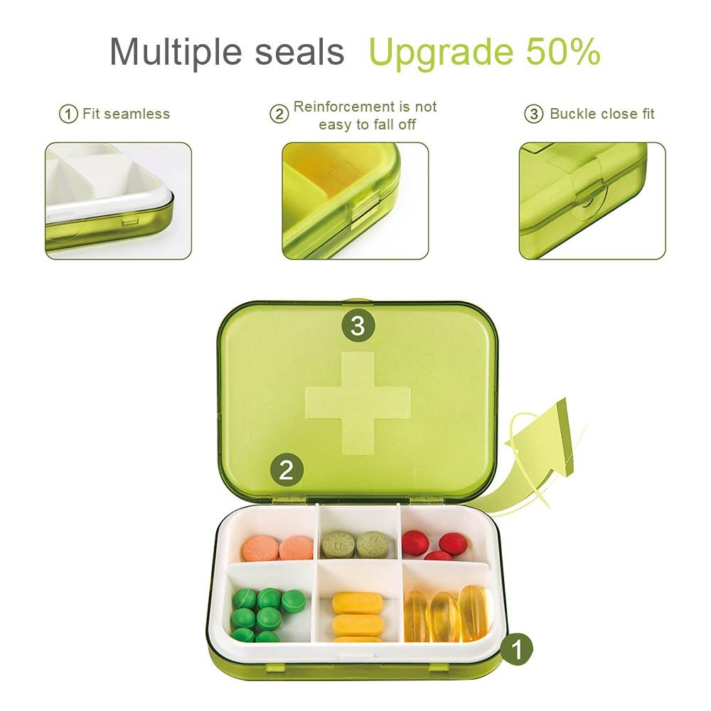 Airtight Portable Pill Box