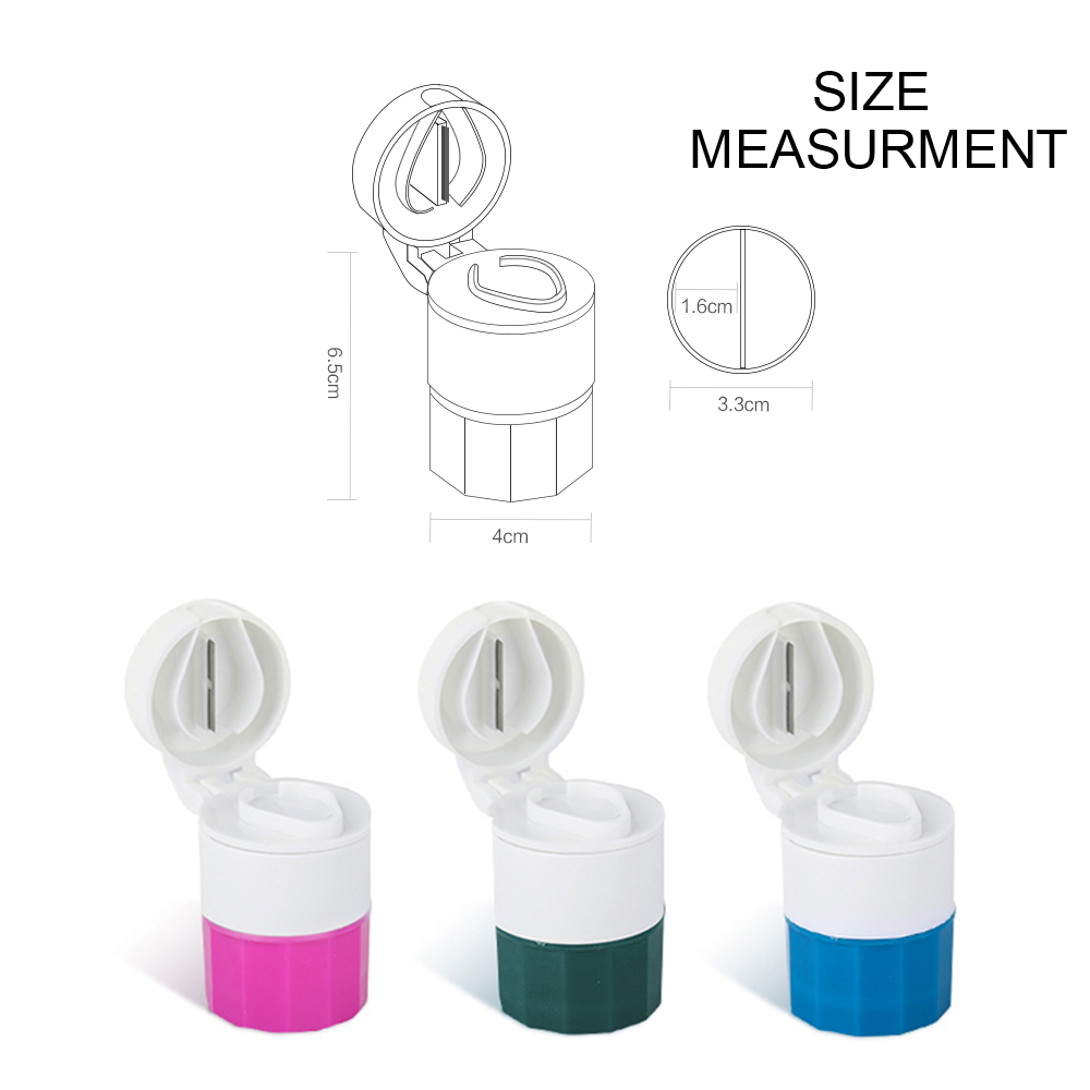 3 IN 1 Multi-Function Tablet Cutter And Medication Crusher with Small Pill Box For Daily or Travel Use 4