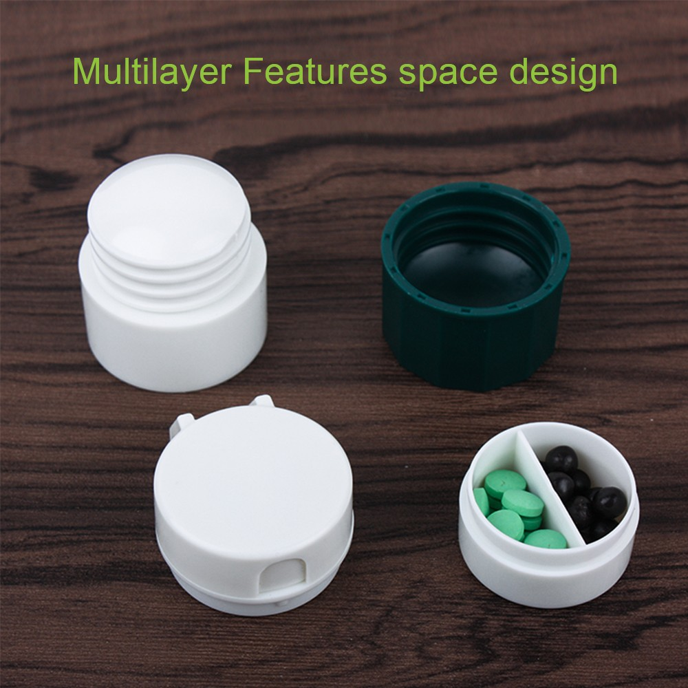 3 IN 1 Multi-Function Tablet Cutter And Medication Crusher with Small Pill Box For Daily or Travel Use 7