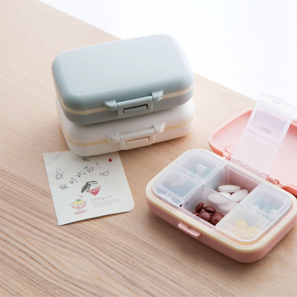 Waterproof Weekly Pill Case with 6 Compartments