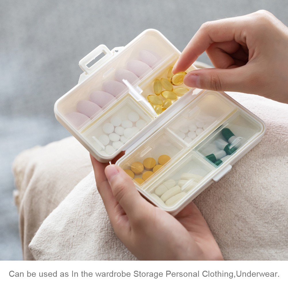 Moistureproof Pill Organizer for Daily or Travel Use