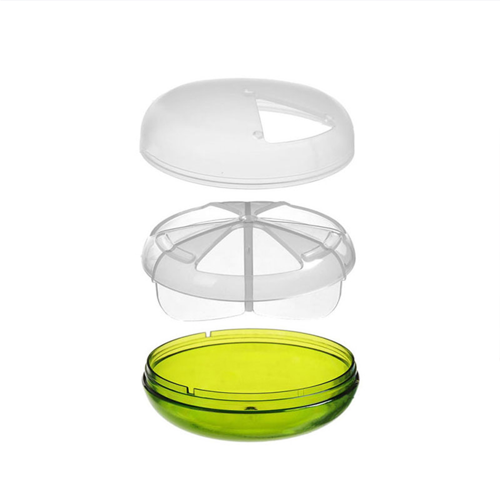 Mini Round Pill Case with 3 Compartments