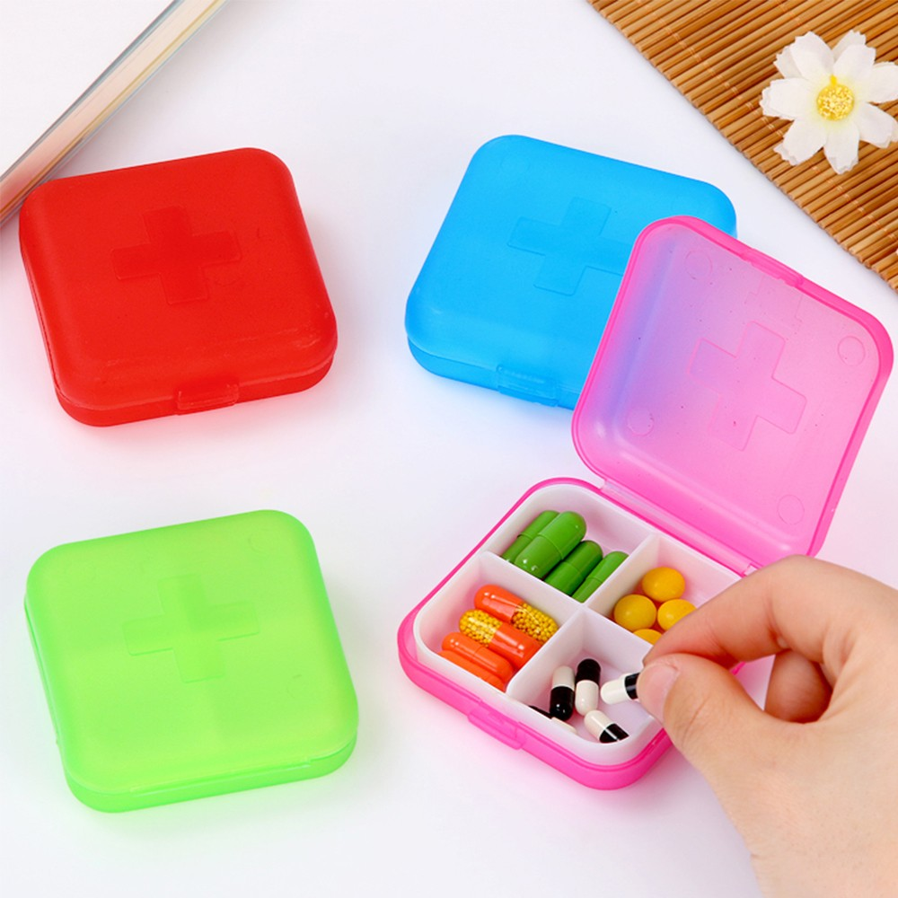 Mini Portable 4 compartments Travel Pill Box, Ideal for Medication, Vitamin, Supplement 9