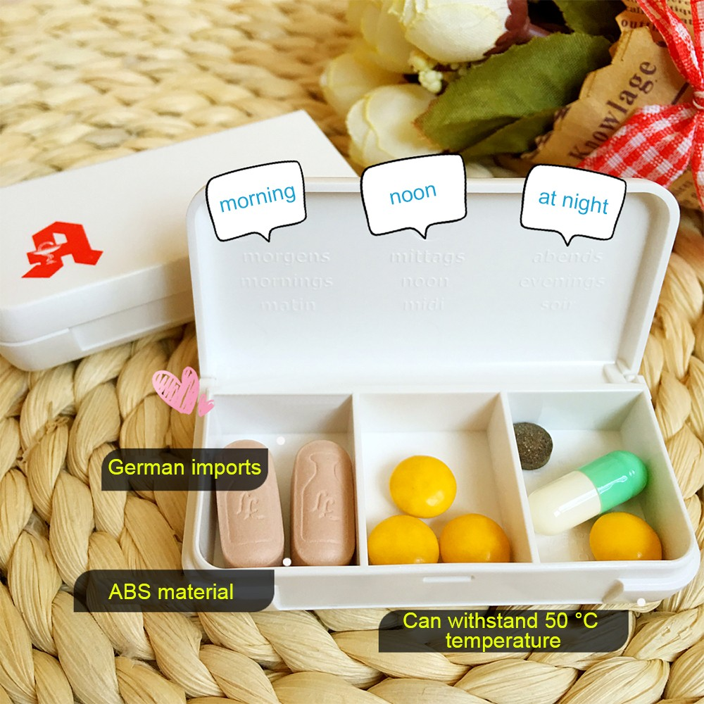 Cute Cartoon Tablet Pill Box
