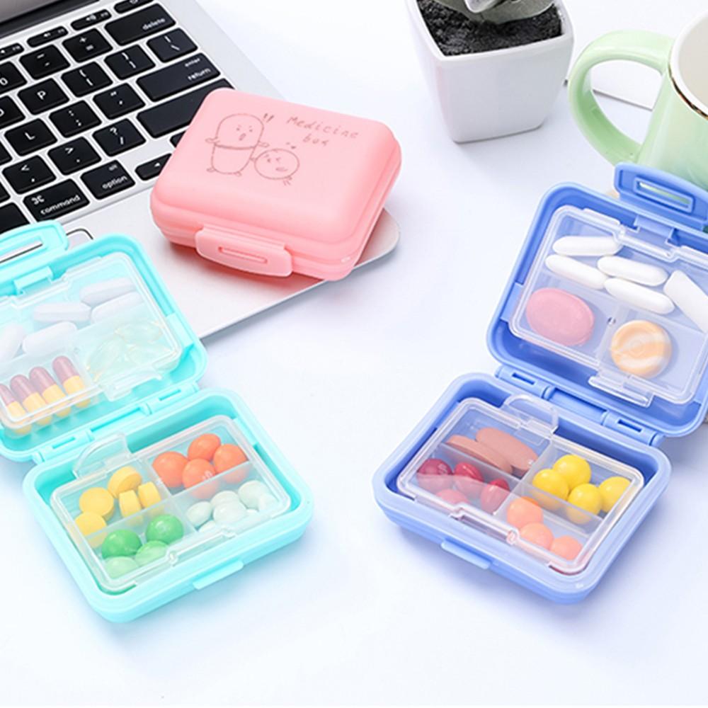 Kids Cartoon Pill Box Organizer, 7 Compartments Vitamin Storage Supplement Case 5