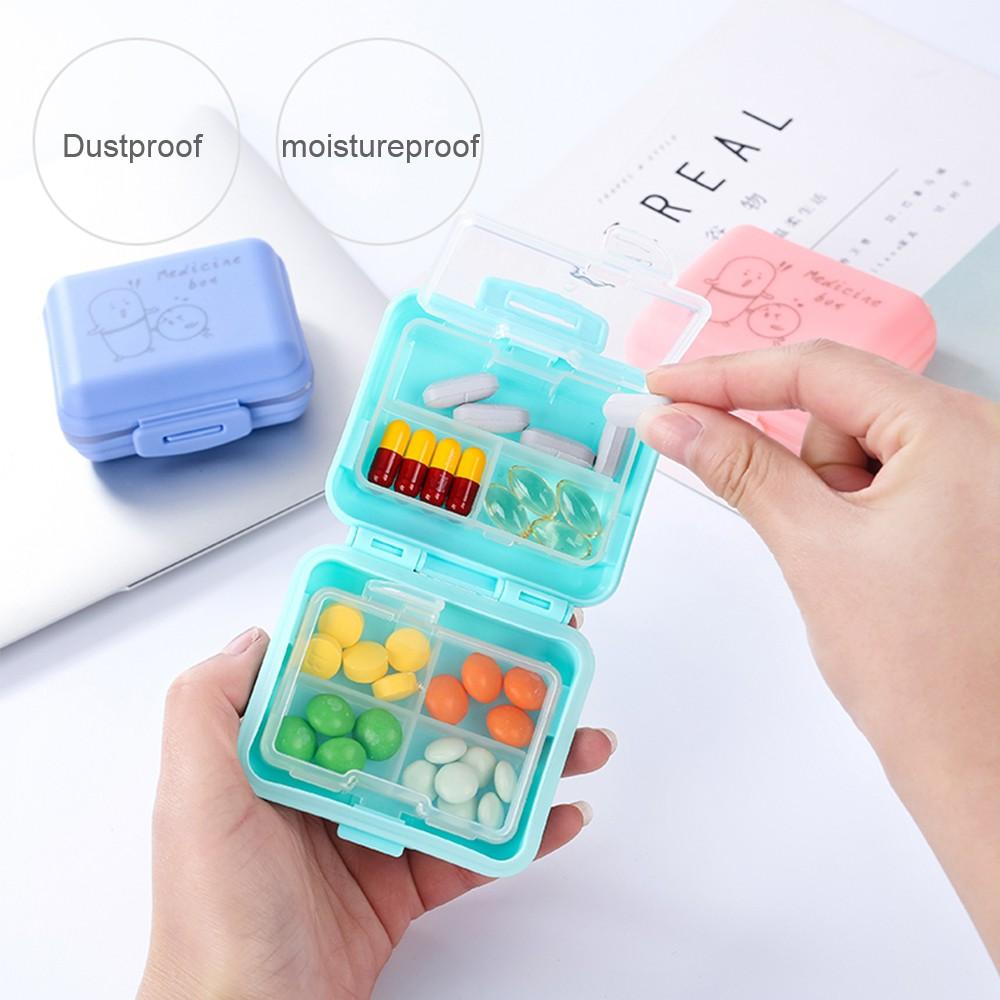 Kids Cartoon Pill Box Organizer, 7 Compartments Vitamin Storage Supplement Case 10