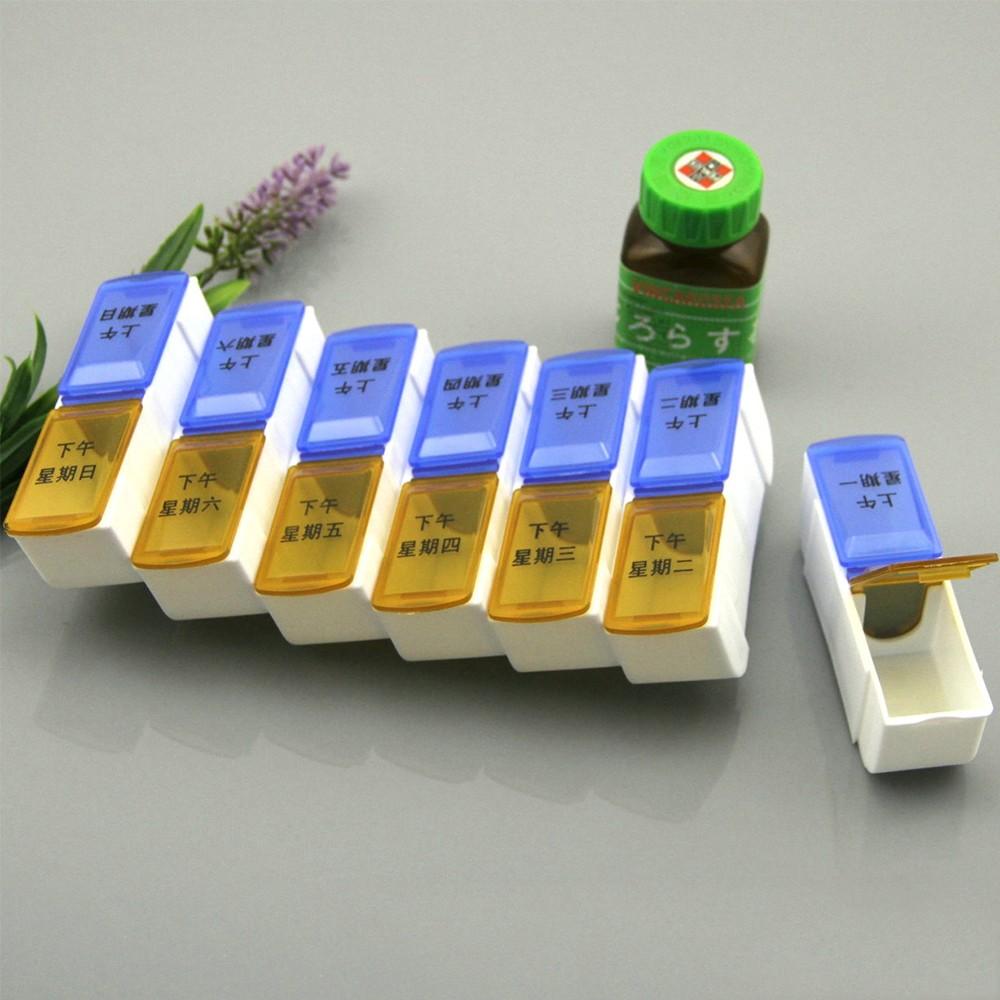 Detachable am pm pill box