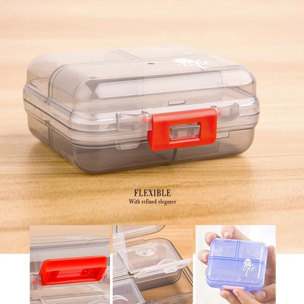 Small 7-Day Weekly Travel Pill Organizer, Portable 7 Compartments Pill Organizer for Daily or Travel Use 9