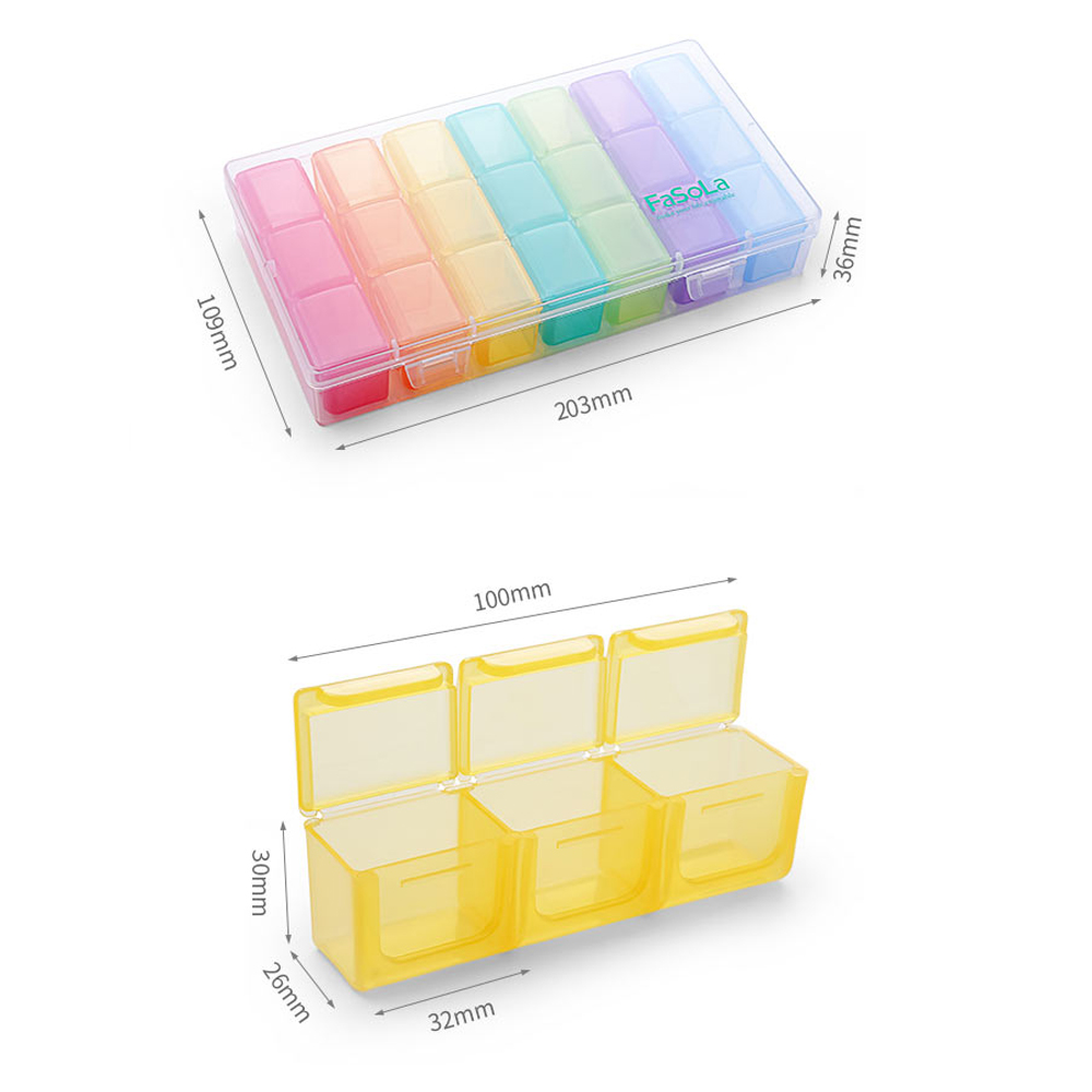 Moisture-Proof 7-day pill box with 21 large compartments and Removable Design to Hold Vitamins, Supplements and Medication 4