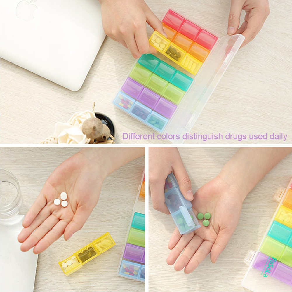 Moisture-Proof 7-day pill box